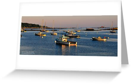Kittery Point Harbor, Maine, Summer Solstice Sunset by Richard VanWart