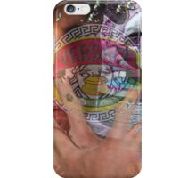 vaporwave with unnamed large man in hat iPhone Case/Skin