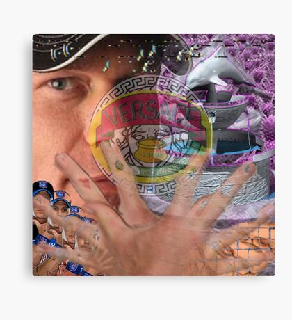 vaporwave with unnamed large man in hat Canvas Print