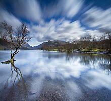 Llyn Padarn Lake, Llanberis, Snowdonia by Angie Latham