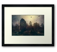 Home is where the fog is Framed Print