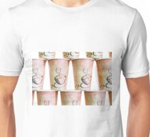 Coffee Cup Stack Unisex T-Shirt