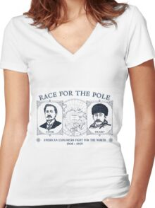 Race for the Pole Women's Fitted V-Neck T-Shirt