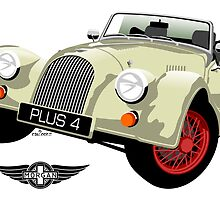Morgan Plus Four Old English White by car2oonz