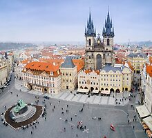 Old Town Square, Prague, Czech Republic by Artcomma