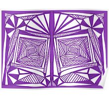 Purple Pattern Proposed 4 Picture Portal Poster