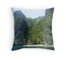 Secluded Beach - El Nido, Palawan, Philippines Throw Pillow
