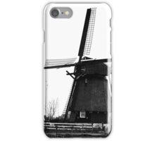 WindMill in Holland - B&W iPhone Case/Skin