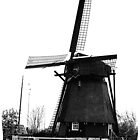 WindMill in Holland - B&W by Yvon van der Wijk