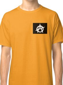 Black And White Anarchy  Classic T-Shirt