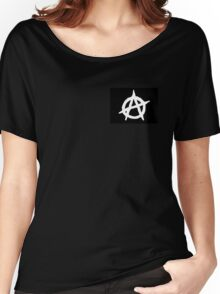 Black And White Anarchy  Women's Relaxed Fit T-Shirt