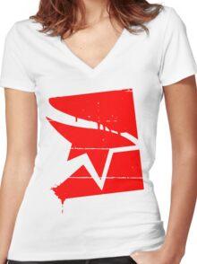 Runner Women's Fitted V-Neck T-Shirt