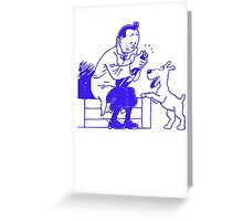 TINTIN and SNOWY Greeting Card
