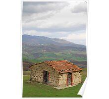 Hut in Tuscany  Poster