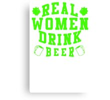 Real Women Drinking Beer Canvas Print