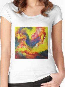 """Escapism"" original abstract artwork Women's Fitted Scoop T-Shirt"