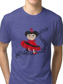Happy lady  Tri-blend T-Shirt
