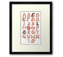 Alphabet with Hands Framed Print