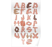 Alphabet with Hands Poster