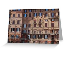 Buildings in Siena Greeting Card