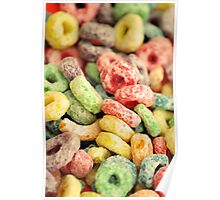 Colourful Fun Abstract Food Art Kitchen Diner Breakfast Cereal Poster