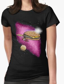S.S. Burger Fries Womens Fitted T-Shirt