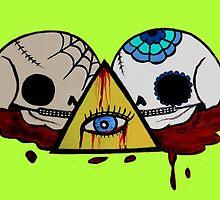 All Seeing Skulls by annarkist