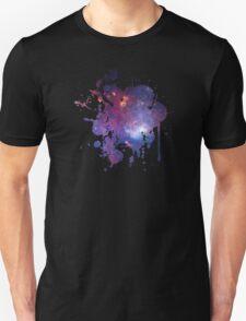 Space Splatter Two (Black) Unisex T-Shirt
