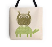 owl and turtle Tote Bag