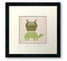 owl and turtle Framed Print