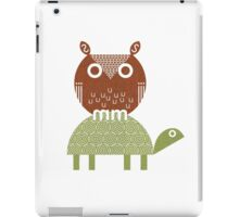 owl and turtle iPad Case/Skin
