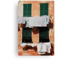 Washing, Vernazza Canvas Print