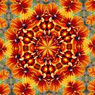Orange Daisies Kaleidoscope by SmilinEyes