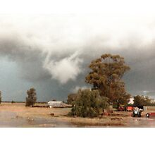 Albert Rain Storm © Vicki Ferrari Photography Photographic Print