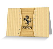 Ferrari ~ Wood Pine Greeting Card