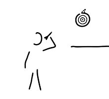 dart player target throw arrow by lineamentum