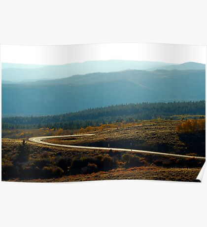 Boulder Mountain Colors Poster