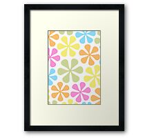 Abstract Flowers Bright Color Mix Framed Print