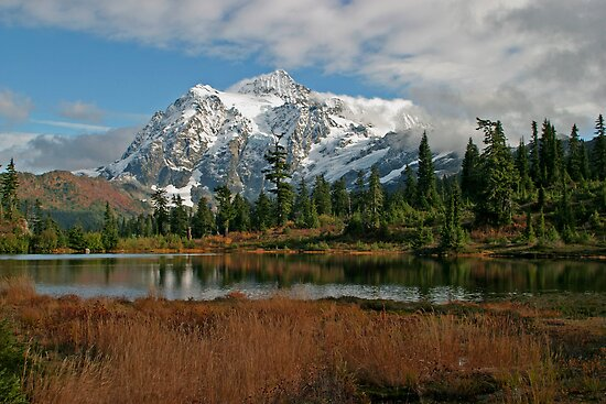 Mount Shuksan and Picture Lake by Olga Zvereva