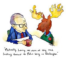 Larry and the Moose Photographic Print