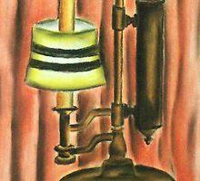 Antique lamp in colour by Alan Hogan