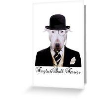 Dapper English Bully Greeting Card