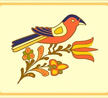 Fraktur Bird by Sam Dantone
