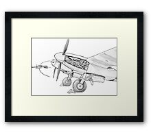 Mossie engine. Framed Print