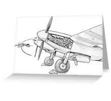 Mossie engine. Greeting Card