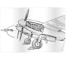 Mossie engine. Poster