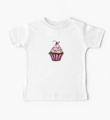 Pink Cherry Cupcake  Baby Tee