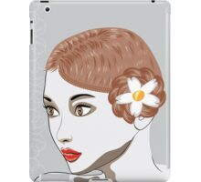 Brunette girl iPad Case/Skin