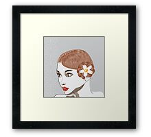 Brunette girl Framed Print