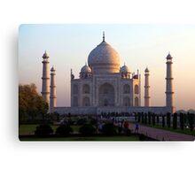 The Taj Mahal at sunrise. Canvas Print